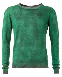 Avant Toi - Green Distressed Sweater for Men - Lyst