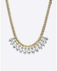 Ted Baker | Metallic Emari Crystal Chain Triple Row Necklace | Lyst