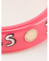 Marc By Marc Jacobs - Pink 'i Heart Marc' Bangle - Lyst