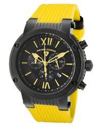 Swiss Legend - Legato Cirque Chrono Yellow Silicone Black Textured Dial - Lyst