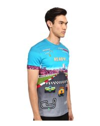 Love Moschino - Multicolor Race Car Print T-Shirt for Men - Lyst
