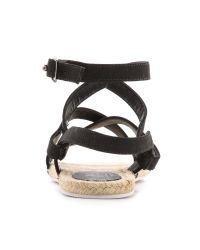 Tibi Black Melia Espadrille Sandals