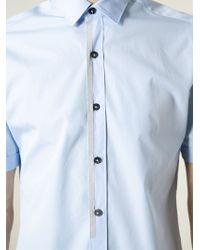 Lanvin | Blue Short Sleeve Shirt for Men | Lyst