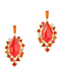 Stephen Webster - Red Gold Struck Crystal Haze Drop Earrings - Lyst