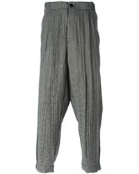 Societe Anonyme - Black Houndstooth Cropped Trousers for Men - Lyst