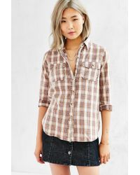 BDG | Brown Washed Out Button-down Shirt | Lyst