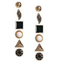 ALDO | Black Prigosien Multipack Stud Earrings | Lyst