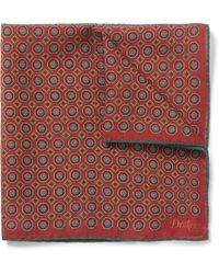 Kingsman | Red + Drake's Patterned Wool And Silk-blend Pocket Square for Men | Lyst