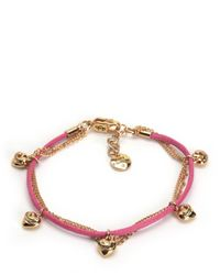 Juicy Couture | Pink Multi Strand Hearts Bracelet | Lyst