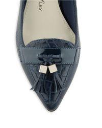 Anne Klein | Blue Miguela Leather Kitten Heels | Lyst