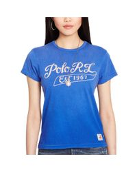 "Polo Ralph Lauren | Blue ""polo Rl"" Embroidered Tee 