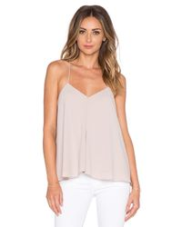 Tibi Pink Savanna Draped Cami