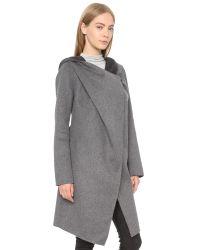 SOIA & KYO - Gray Samia Coat - Grey - Lyst