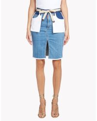 DSquared² | Blue Inside Out Skirt | Lyst