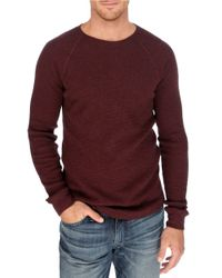 Lucky Brand | Red Thermal Crewneck Shirt for Men | Lyst