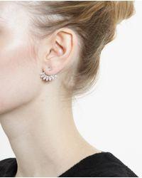 Yvonne Léon White 18K Gold And Diamond Stud Earring