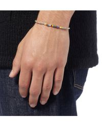 Paul Smith | Metallic Silver and Glass Bead Bracelet for Men | Lyst