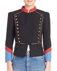 Marc By Marc Jacobs - Black Gabardine Military Jacket - Lyst