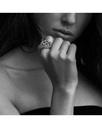David Yurman | Metallic Venetian Quatrefoil Dome Ring With Diamonds In Gold | Lyst
