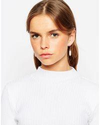 ASOS | Metallic Clean Shard Swing Earrings | Lyst