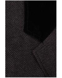 BOSS Orange Black Regular-fit Jacket In Textured Cotton Blend: 'belvis-d' for men