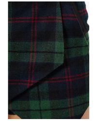 Missguided | Stacie Tartan Skort in Deep Green | Lyst