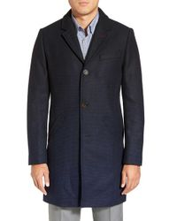 Ted Baker | Blue 'gaines' Ombre Topcoat for Men | Lyst