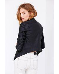 BB Dakota Black Tamela Vegan Leather Jacket