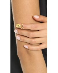 Bijules - Metallic Short Nail Ring - Gold - Lyst