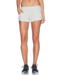 Blue Life White Fit Basic Running Short