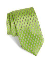 Ted Baker | Green Geometric Silk Tie for Men | Lyst