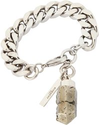 Givenchy | Metallic Flat Curbchain Bracelet With Pyrite Pendant | Lyst