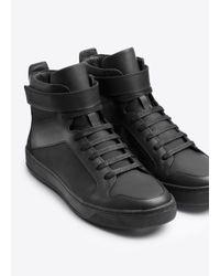 Vince Black Athens Leather Sneaker for men