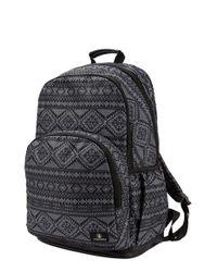 Volcom - Black 'fieldtrip' Print Backpack - Lyst