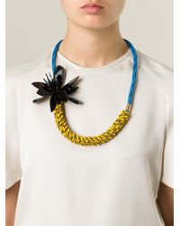 Marni | Blue Flower Necklace | Lyst