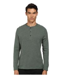 Billy Reid | Green Hunter Henley for Men | Lyst