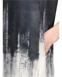Vince Multicolor Dry Brush Print Shift Dress