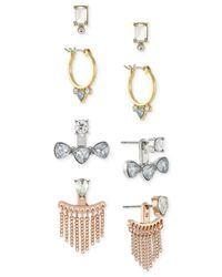 BCBGeneration | Metallic Tri-tone Earring Set | Lyst