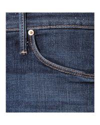 Mother Blue The Runway Frayed Denim Jeans