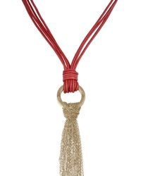 Amanda Wakeley | Red Togo Necklace | Lyst