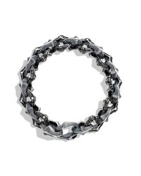 David Yurman | Armory Large Link Bracelet with Black Diamonds for Men | Lyst