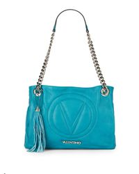 Valentino By Mario Valentino | Blue Luisa Quilted Leather Shoulder Bag | Lyst
