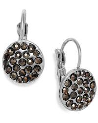 INC International Concepts - Metallic Silver-tone Crystal Disc Leverback Earrings - Lyst