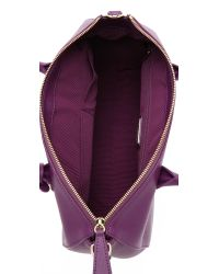 Furla | Purple Linda Medium Satchel - Aubergine | Lyst