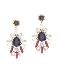 J.Crew | Red Persian Leaves Earrings | Lyst