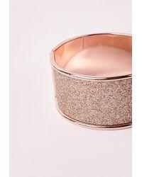 Missguided   Metallic Glitter Bangle Rose Gold   Lyst