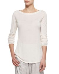 ATM - White Cashmere Boat-Neck Sweater - Lyst