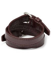 Balenciaga | Purple Wrapped Creased-leather Bracelet for Men | Lyst