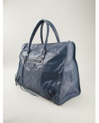 Balenciaga - Blue Classic Weekender Tote - Lyst
