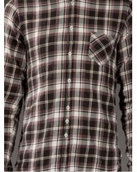 Aglini - Brown Check Shirt for Men - Lyst